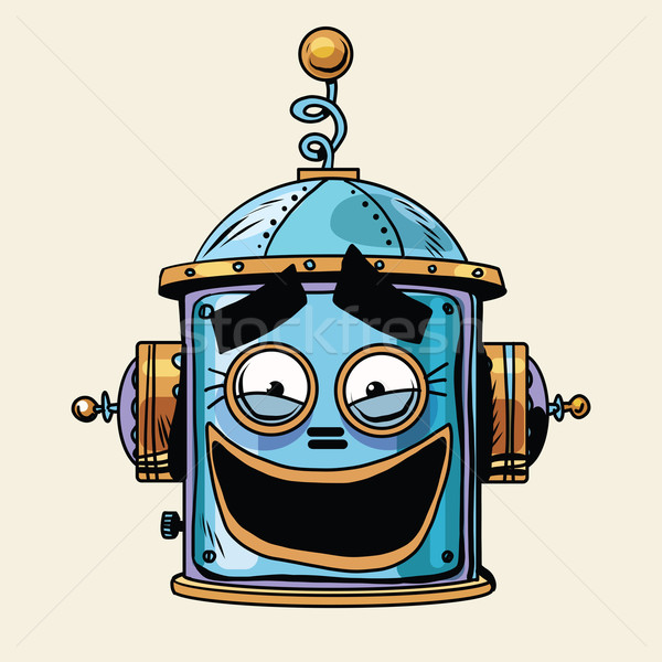emoticon funny laughing emoji robot head smiley emotion Stock photo © studiostoks