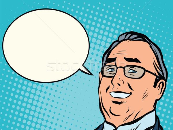 Arc üzlet főnök képregény buborék pop art Stock fotó © studiostoks