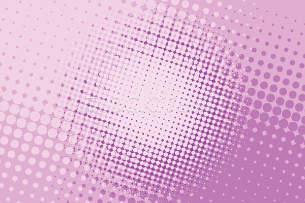 pink halftone pop art background Stock photo © studiostoks