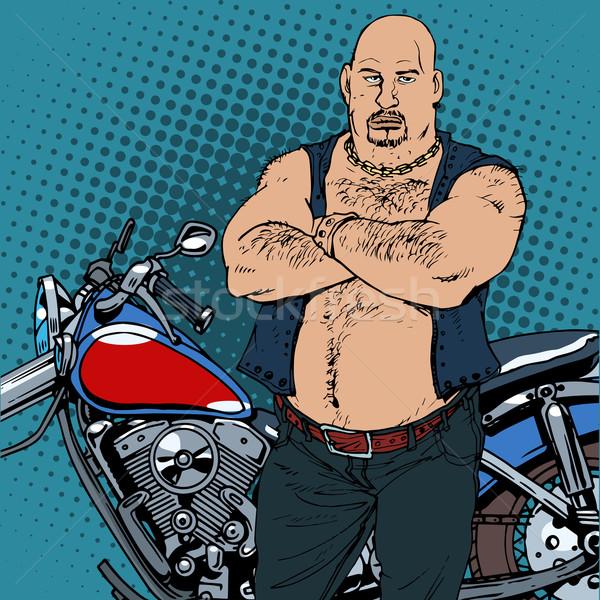 脂肪 ヴィンテージ オートバイ 道路 レトロスタイル ストックフォト © studiostoks