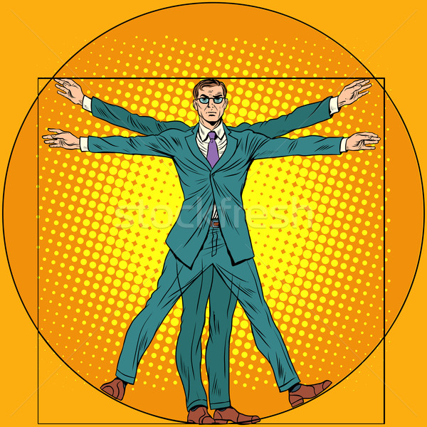 businessman Vitruvian man Stock photo © studiostoks