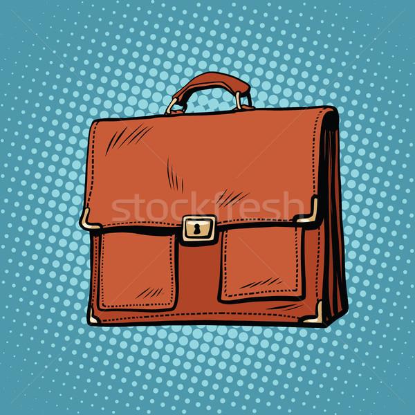 Realistic stylish leather business portfolio bag Stock photo © studiostoks