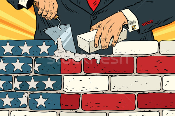 politician to build a wall on the USA border Stock photo © studiostoks