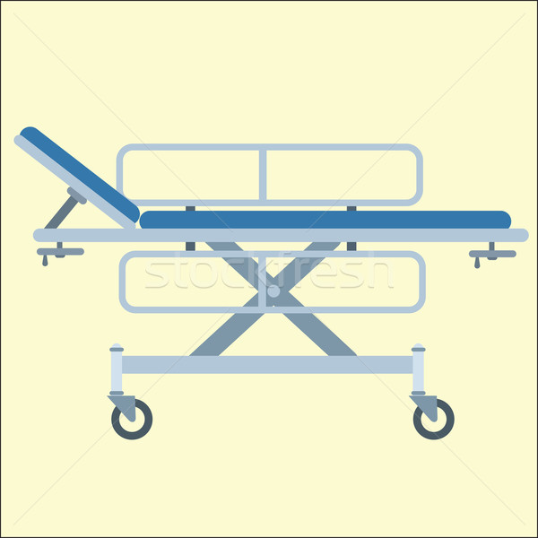 Medical stretcher bed on wheels Stock photo © studiostoks