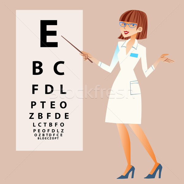 The doctor ophthalmologist examines your eyes Stock photo © studiostoks