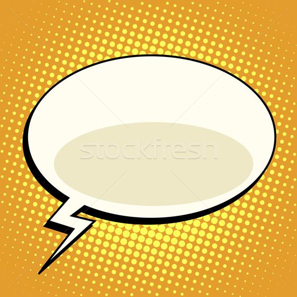 cloud comic bubble retro background for text Stock photo © studiostoks