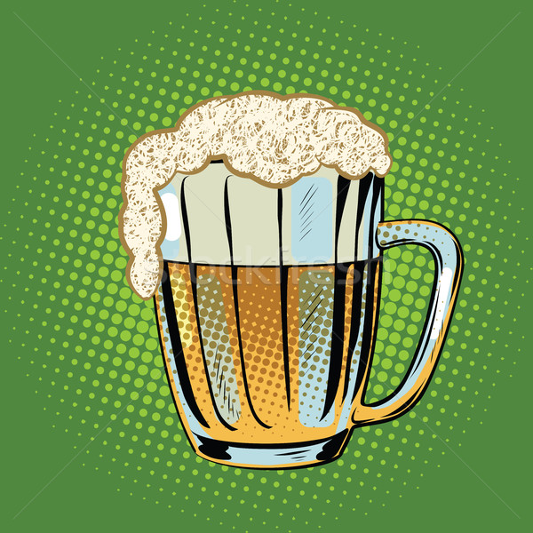 Full beer mug with foam Stock photo © studiostoks