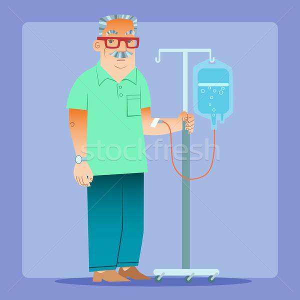 man dropper medicine health Stock photo © studiostoks
