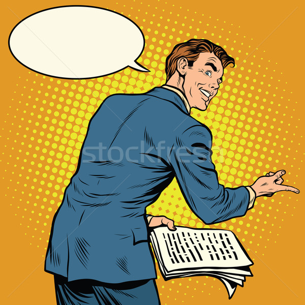 the speaker with text to speech Stock photo © studiostoks