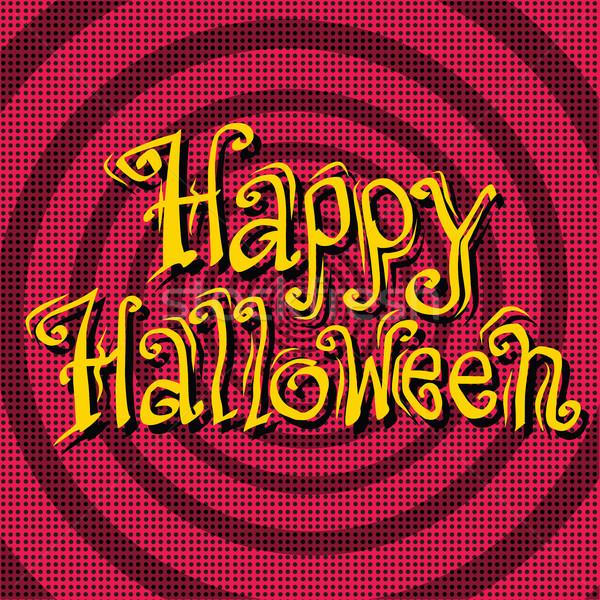 Boldog halloween felirat retro pop art háttér Stock fotó © studiostoks