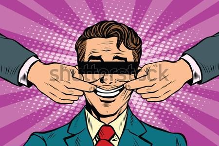 Vinger omhoog zoals goedkeuring gebaar pop art Stockfoto © studiostoks