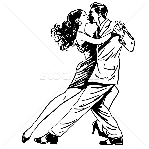 Beijo homem mulher dança casal tango Foto stock © studiostoks