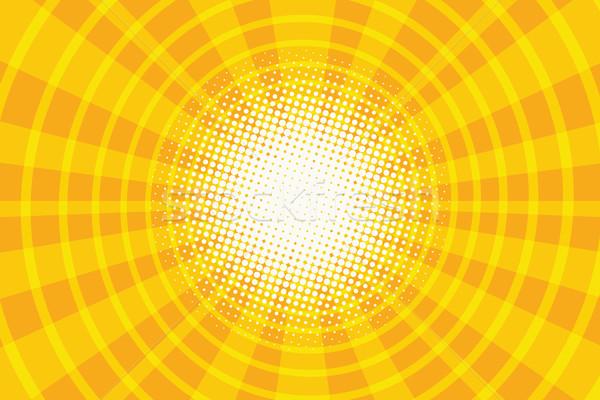 Сток-фото: желтый · кольца · коридор · Поп-арт · ретро · свет