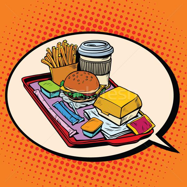 Rüya lezzetli fast-food pop art Retro Stok fotoğraf © studiostoks