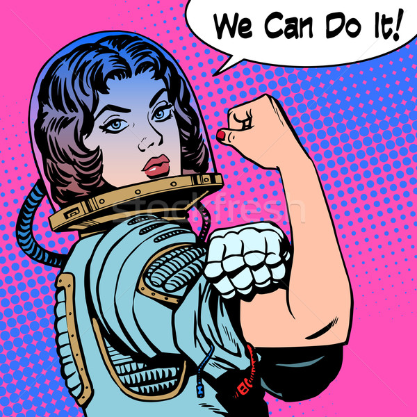 woman astronaut we can do it the power of protest Stock photo © studiostoks
