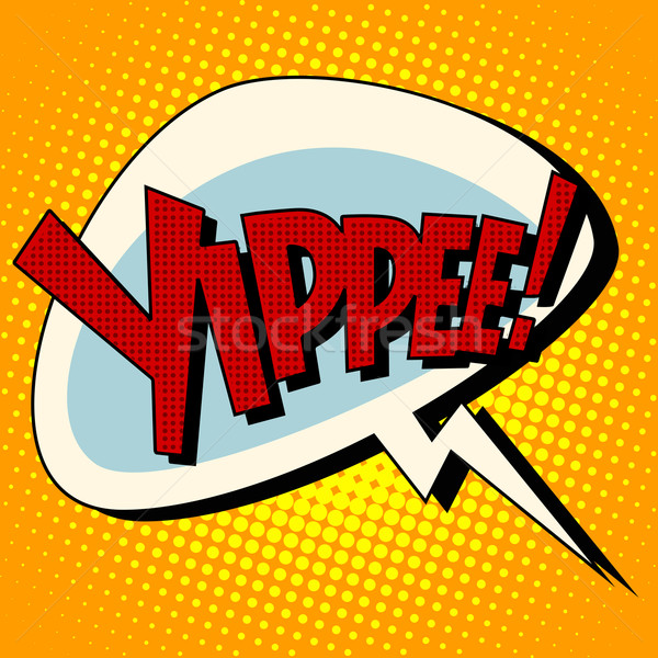 yippee win comic book bubble text Stock photo © studiostoks