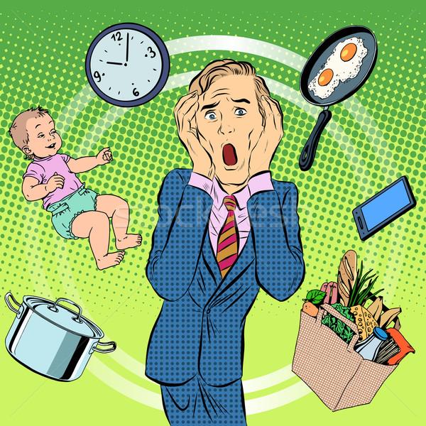 Man dad household chores Stock photo © studiostoks