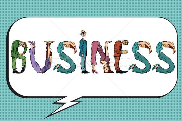 Business word letters people Stock photo © studiostoks