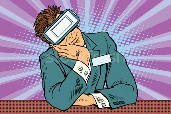 Manager at VR glasses for reception Stock photo © studiostoks