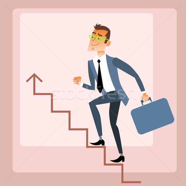 Businessman climbs growing schedule Stock photo © studiostoks
