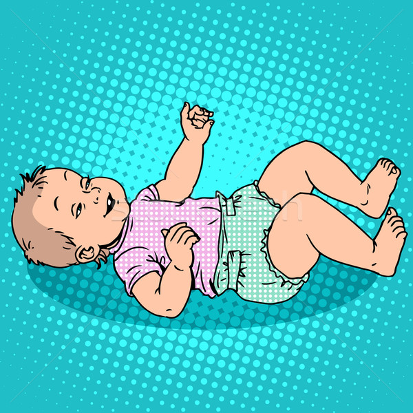 Alegre criança fralda infância maternidade Foto stock © studiostoks