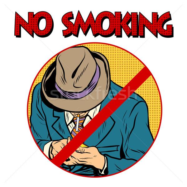sign Smoking ban Stock photo © studiostoks
