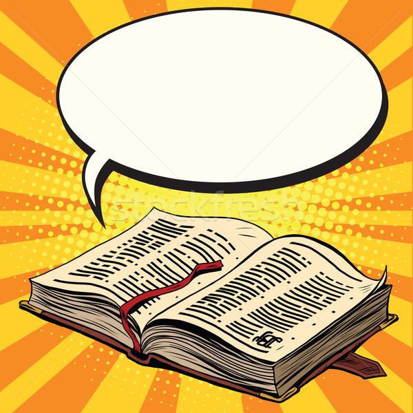 Old book and comic bubble Stock photo © studiostoks