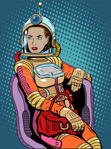 Space girl beauty sexy science fiction Stock photo © studiostoks