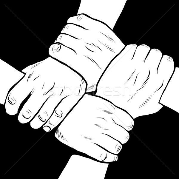 Black and white hands solidarity friendship Stock photo © studiostoks