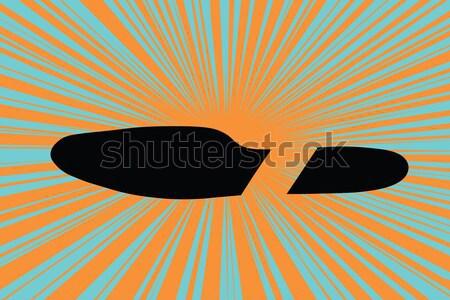 Empreinte pieds chaussures pop art rétro design Photo stock © studiostoks