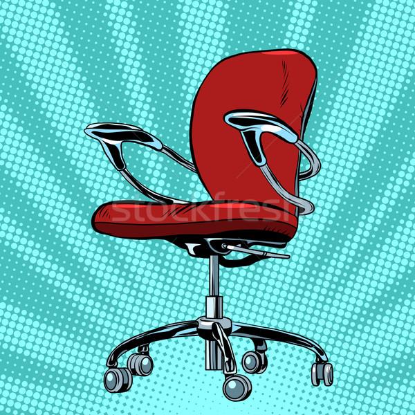 Modern vector office chair graphic Stock photo © studiostoks