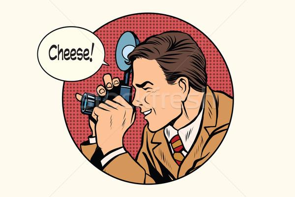 Pop art photographer cheese Stock photo © studiostoks