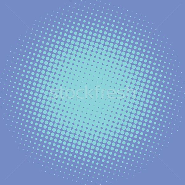 Mavi pop art Retro ışık etki sanat Stok fotoğraf © studiostoks