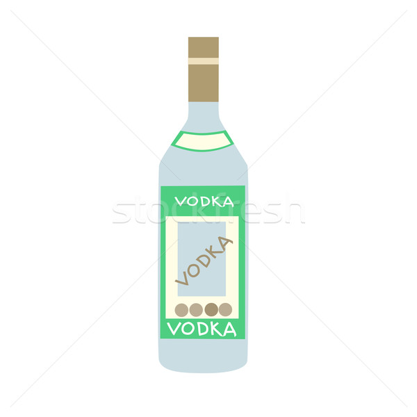 Stylized bottle of Russian vodka Stock photo © studiostoks