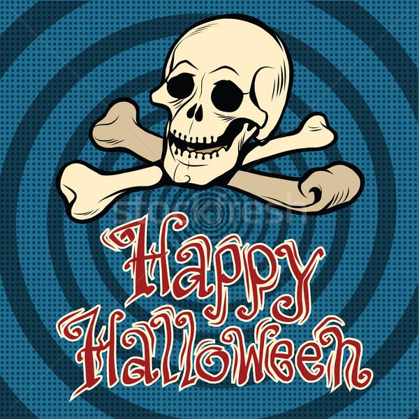 Happy Halloween skull and bones Stock photo © studiostoks
