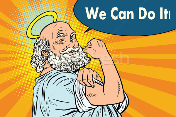 Mythical God we can do it Stock photo © studiostoks