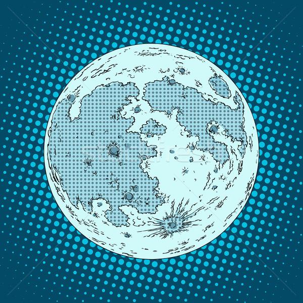 moon satellite planet Stock photo © studiostoks