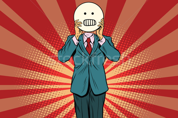 panic anger Man smiley Emoji face Stock photo © studiostoks