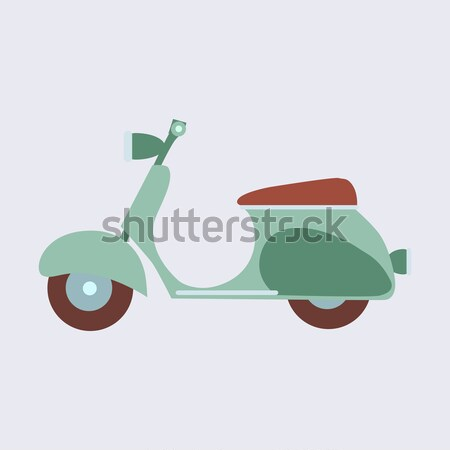 Vintage scooter on a neutral background Stock photo © studiostoks