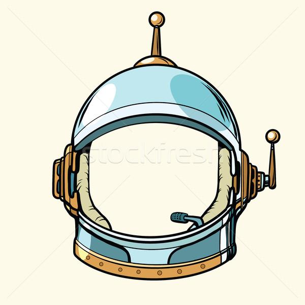 Space suit helmet isolated on white background Stock photo © studiostoks