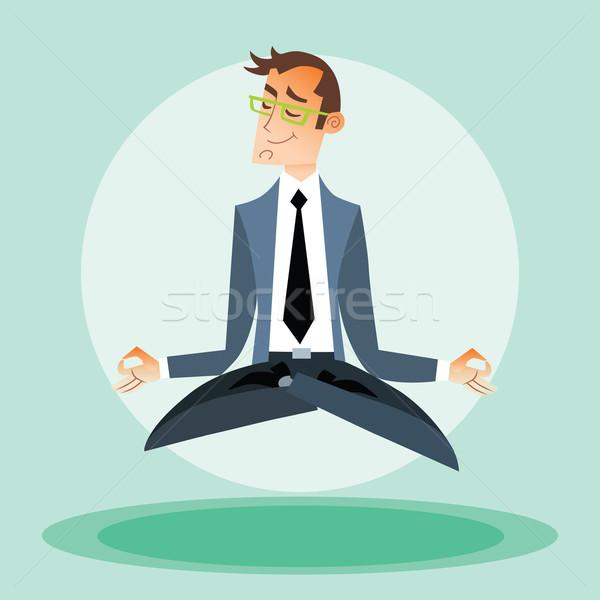 Businessman engaged in yoga Stock photo © studiostoks