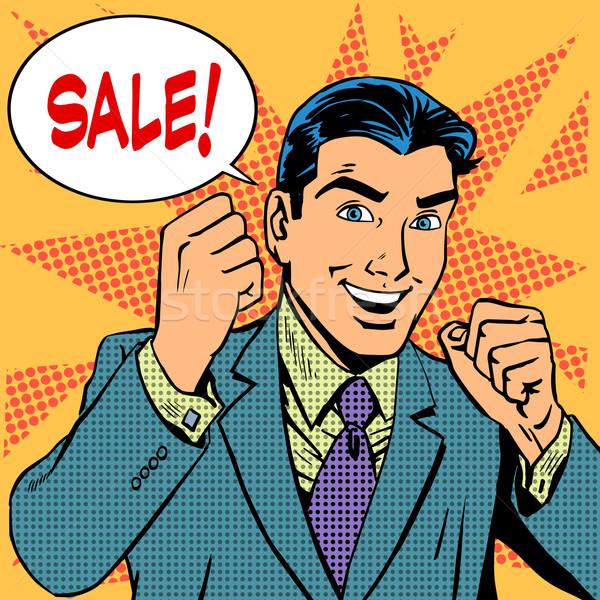 Male businessman sale sales discount store shopping Stock photo © studiostoks