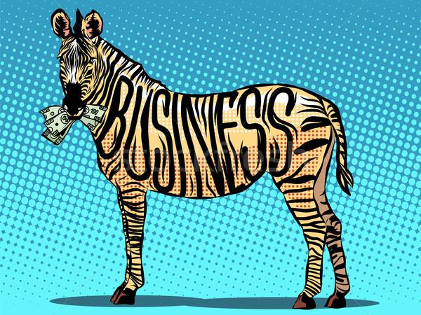ビジネス シマウマ お金 ポップアート レトロスタイル ストックフォト © studiostoks
