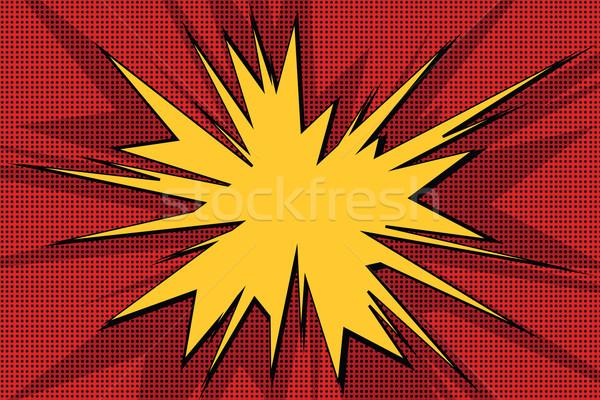 Explosivo bolha retro fundo Foto stock © studiostoks