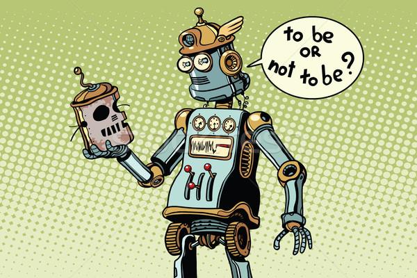 új robot külső koponya technikai haladás Stock fotó © studiostoks