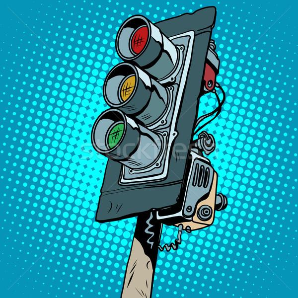 レトロな 信号 ポップアート レトロスタイル ストックフォト © studiostoks