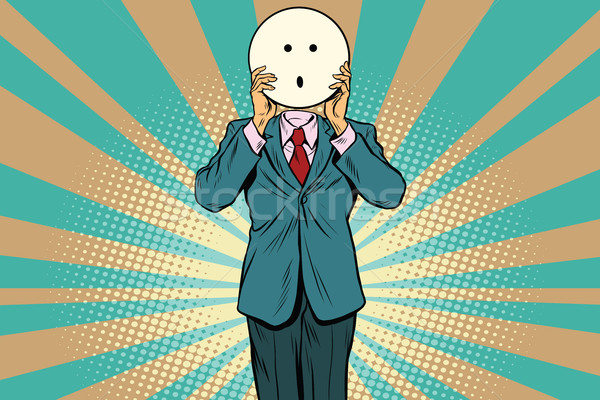 surprise Man smiley Emoji face Stock photo © studiostoks