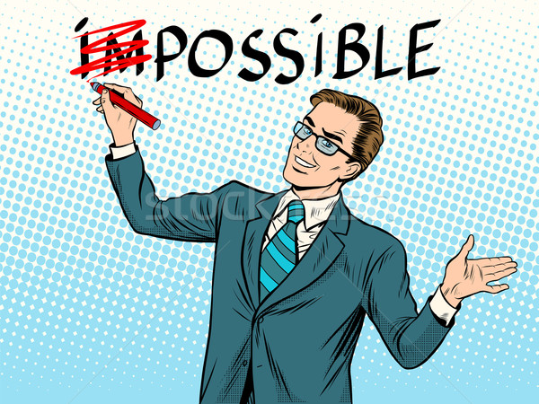 Impossible possible business concept Stock photo © studiostoks