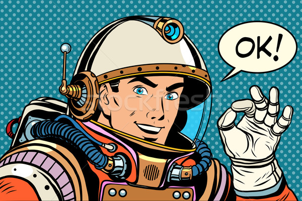 Astronauta hombre bueno gesto así Foto stock © studiostoks