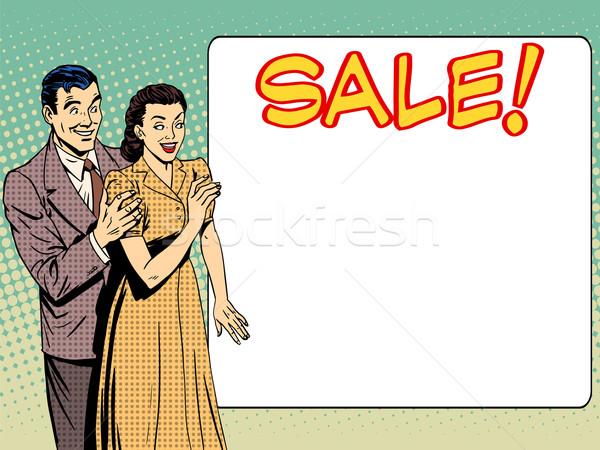 Család férj feleség bejelent vásár férfi Stock fotó © studiostoks